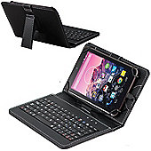 Navitech Black Micro USB Keyboard Case / Cover For The All-New Fire HD 10 Tablet with Alexa Hands-Free, 10.1""