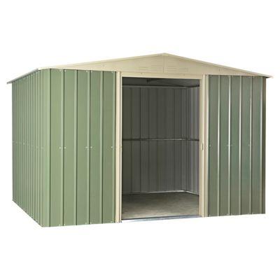 10 x 8 Premier EasyFix Mist Green Apex Shed (3.07m x 2.47m) 10ft x 8ft