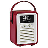 VQ Retro Mini DAB+/FM Radio with Bluetooth (Red)