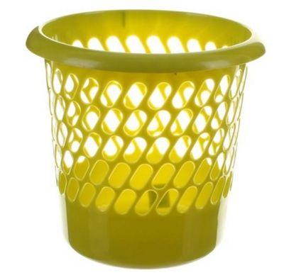 Whitefurze Waste Paper Basket, 30cm, Lime Green