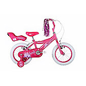 "Bumper Sparkle 12"" Wheel Kids Pavement Bike Pink Stabilisers"
