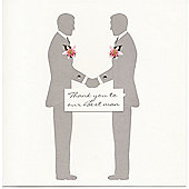 Crystal Lilly Best Man Wedding Thank You Card