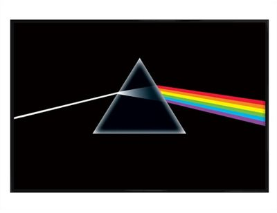 Pink Floyd Gloss Black Framed The Dark Side of The Moon Poster