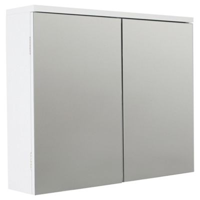 Lloyd Pascal Alvor Gloss Double Mirror Wall Cabinet White