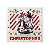 Star Wars Personalised Merry Force Coaster Single R2D2