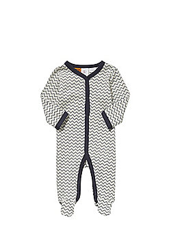 Charlie & Me Chevron Print All In One - Grey