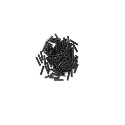 Craft Factory Long Bugle Beads 9mm Black