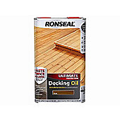Ronseal Ultimate Protection Decking Oil Teak 5 Litre RSLUDOT5L