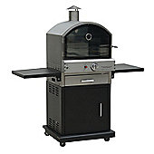 Lifestyle LFS691 Verona Stainless Steel Outdoor Pizza BBQ Oven - Black
