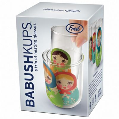 Babushkups - Set of 3 Drinking Glasses
