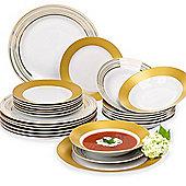 24 Piece Majestic Gold Dinner Set