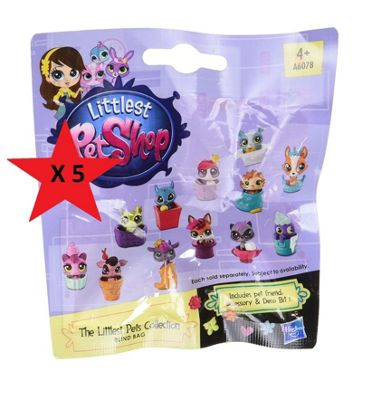 Littlest Petshop Blind Bag - BUNDLE 5 BAGS SUPPLIED