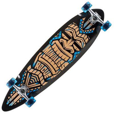 Mindless Longboards ML1130 Black/Blue Tribal Rogue III Complete Longboard