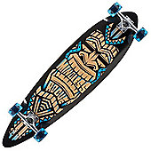 Mindless Longboards ML1130 Black/Blue Tribal Rogue III Complete Longboard