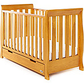 OBaby Stamford Mini Cot Bed + Drawer (Country Pine)