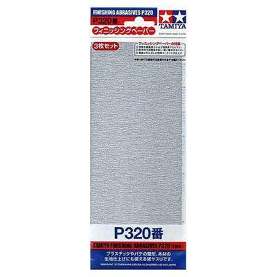 Tamiya 87094 Finishing Abrasive P320 X 3 - Tools / Accessories