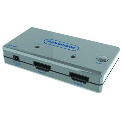 Bandridge Auto Sense 2 Way Port HDMI AV Switch Box Hub