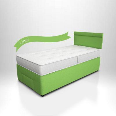Potter Divan Bed Lime - Front Drawer