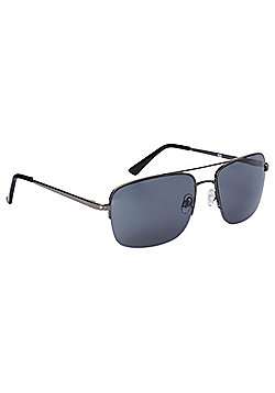F&F Semi Rimless Square Sunglasses One size Black