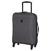 IT Luggage Frameless 4-Wheel Charcoal with Black Honeycomb Cabin Case