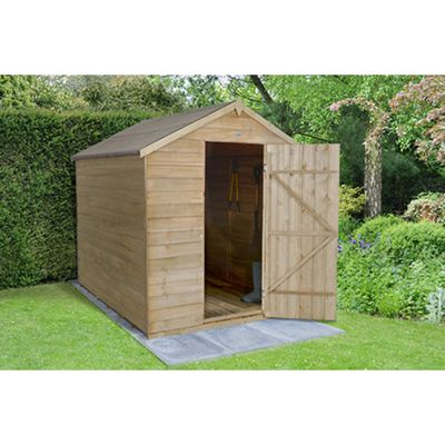 Forest Garde 8x6 Overlap Pressure Treated Apex Shed No Window