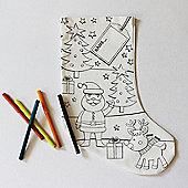 Colour Your Own Father Christmas Stocking