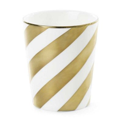 Miss Etoile Mug or Pot Ceramic Gold Stripe No Handle