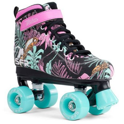 SFR Vision Canvas Kids Quad Roller Skates - Floral UK 4