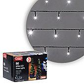 50 LED Cool White Battery Timer Christmas Lights