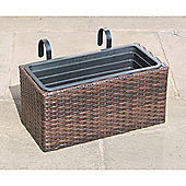 Hand Woven Rattan Rectangle Window Basket - Small