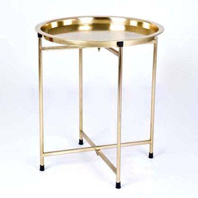 Bahne Tray & Folding Table in Gold