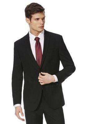 F&F Slim Fit Suit Jacket 42 Chest long length Black