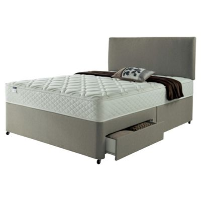 Silentnight Super King Divan Bed, Miracoil Luxury Micro Quilt, 2 Drawer