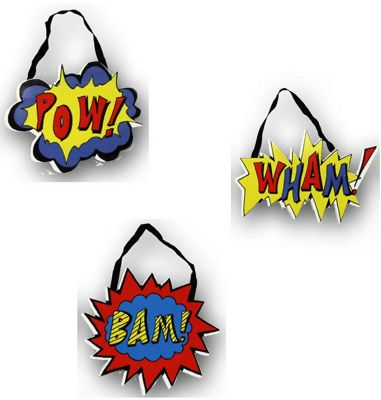 Superhero Hanging Wall Decor - Set of 3