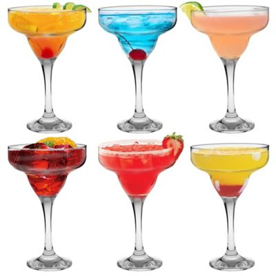 Margarita Cocktail Drinking Glasses In Gift Box - 295ml - x6
