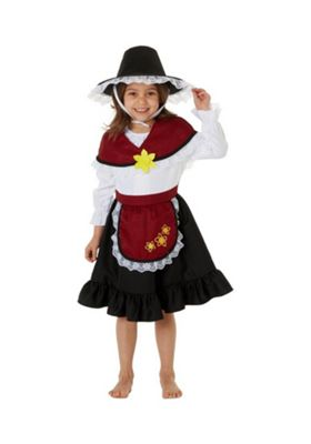 F&F Traditional Welsh Girl St. David's Day Costume Red 3-4 years