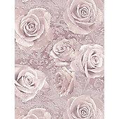 Reverie Rose Wallpaper Blush Arthouse 623302