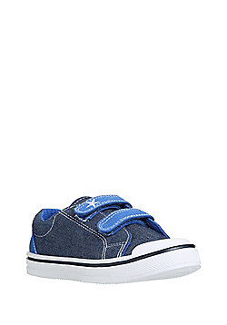 F&F Denim Riptape Trainers - Blue