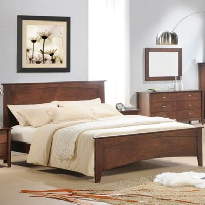 Happy Beds Minuet Wood Low Foot End Bed - Wenge Mahogany - 4ft6 Double
