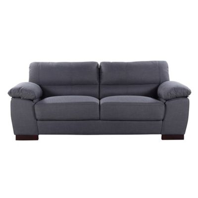 Sofa Collection Trenton Woven Fabric 3 Seat Sofa - Ash