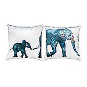 Rajastan Design Extra Soft Luxury Velvet Twin Cushion Sets of Two