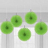 Green Hanging Fan Decorations - 15.2cm