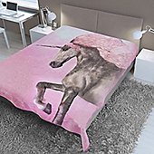 Dreamscene Faux Fur Blanket Throw - Unicorn, 150 x 200 cm