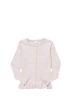F&F Frill Hem Cardigan with As New Technology - Pale pink