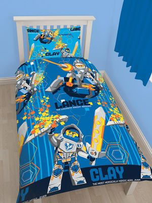 Lego Nexo Knights Power Single Duvet Cover Set - Rotary Design