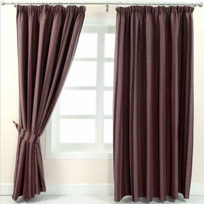 Homescapes Purple Jacquard Curtain Modern Striped Design Fully Lined - 46