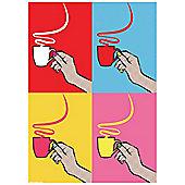 A Steamy Brew Pop Art Mini Poster 32x44cm,