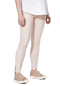 F&F Under-Bump Maternity Jeggings - Blush Pink