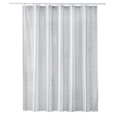 Grey Stripe Shower Curtain
