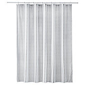 Grey Stripe Shower Curtain